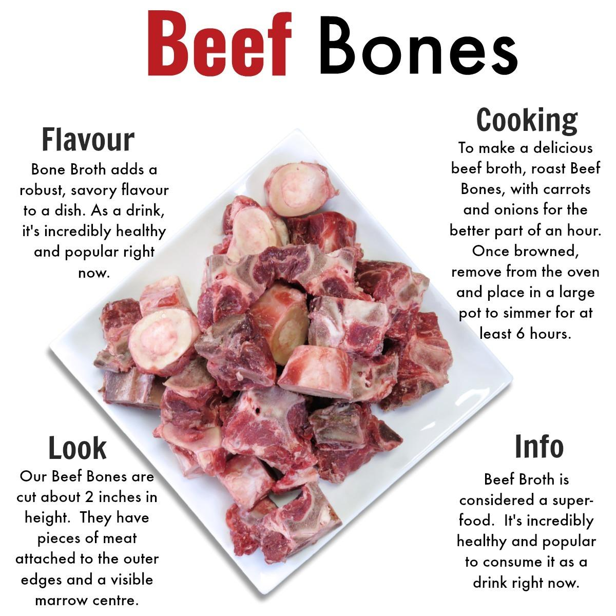 Beef Bones -Grass Fed Beef Nutrafarms