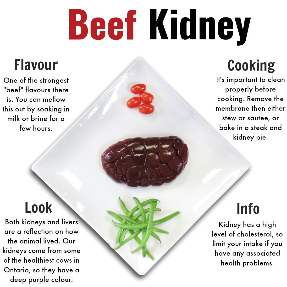 Beef Kidney - Grass Fed Beef Nutrafarms