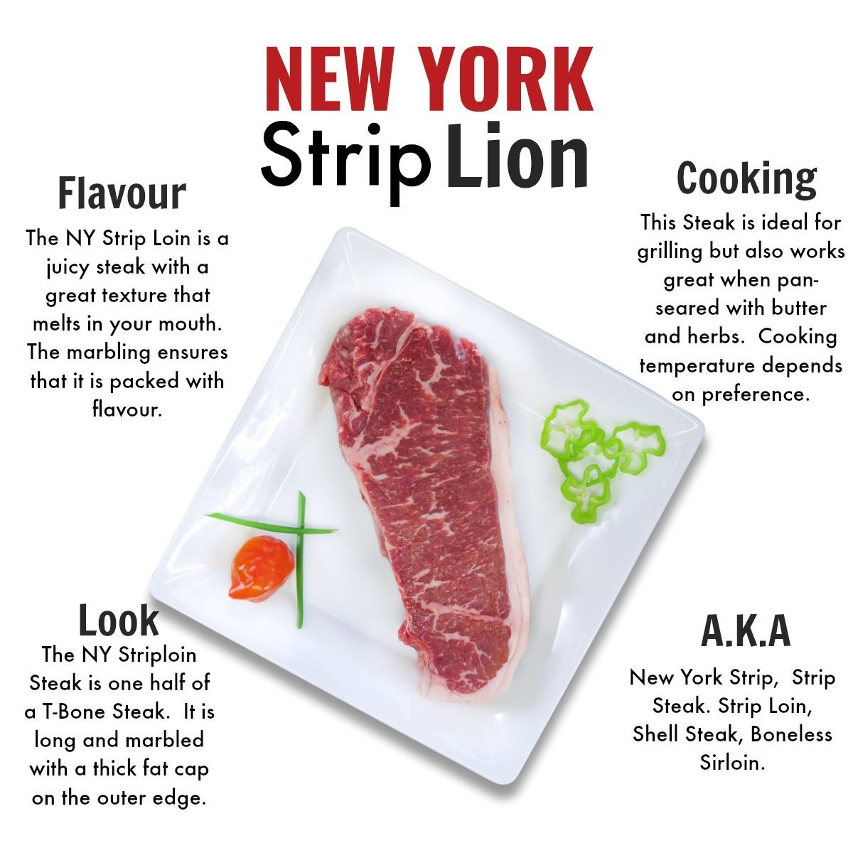 NY Strip Loin - Grass Fed Beef Nutrafarms