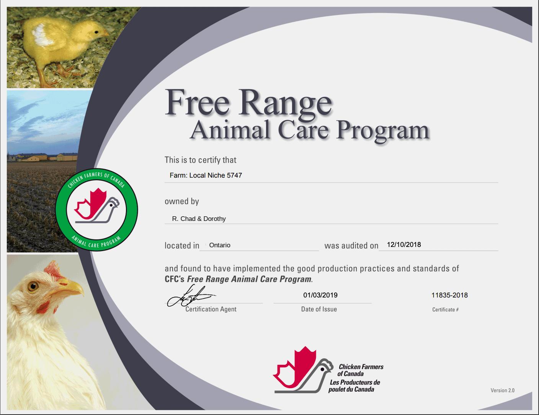 Free Range Animal Care Program - Ontario (edited)