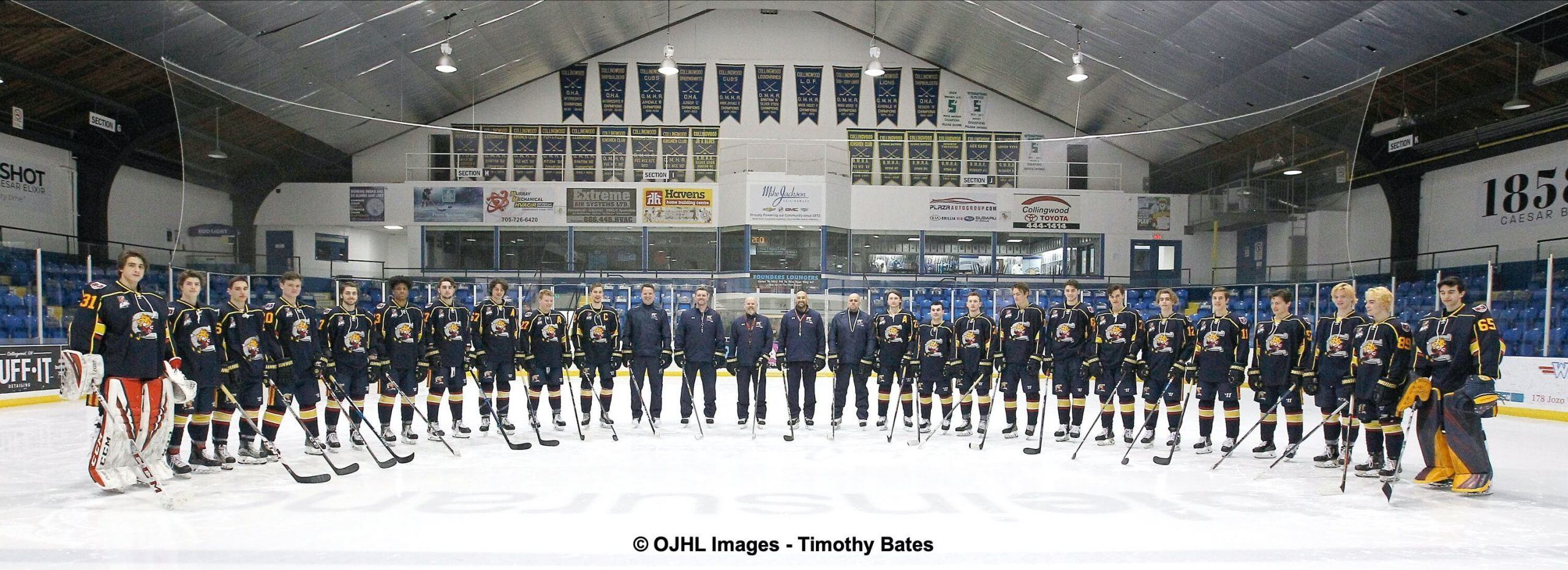 OJHL Collingwood Colts Team Pic